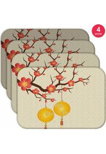 Jogo Americano Love Decor Wevans Chinese Kit Com 4 Pçs