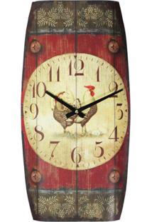 Relógio Kasa Ideia De Parede Galo - Tricae