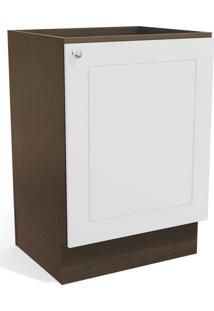 Balcão De Cozinha 60 Cm Provenzza 1 Porta G602 Jacarandá/Branco - Kappesberg