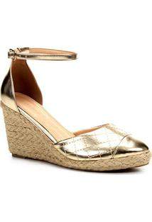Sandália Anabela Shoestock Matelassê Corda Feminina - Feminino
