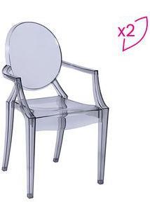 Or Design Jogo De Cadeiras De Jantar Invisible Incolor 2Pã§S