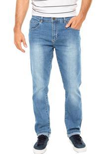 Calça Jeans Lacoste Slim Stretch Azul