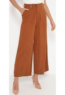 Calça Super High Pantalona- Marrom- Lança Perfumelança Perfume