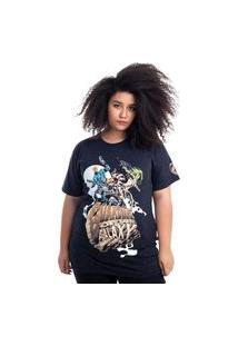 Camiseta Plus Size Guardiões Da Galáxia Grupo Preto