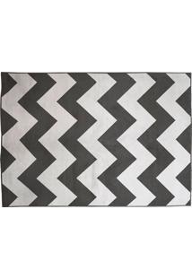 Tapete Belga Geometric Desenho 07 0.67X1.05 - Edantex - Preto / Branco