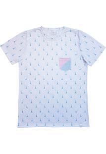 Camiseta Homem Ao Mar Poá Branca