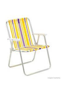 Cadeira De Praia Alta Cor Sortida Mor