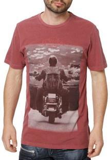 Camiseta Manga Curta Masculina Vels Vinho