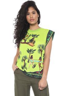 Blusa Colcci Estampada Verde - Kanui