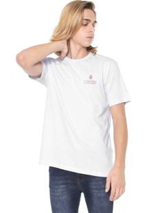 Camiseta Volcom Silk Peace Is Progress Branca