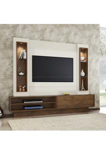 Estante Home Theater Para Tv Até 46 Polegadas 1 Porta De Correr 100% Mdf Tb129 Off White/Nobre - Dalla Costa
