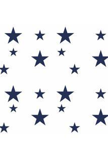 Adesivo De Parede Estrelas Azul Marinho Grão De Gente Azul
