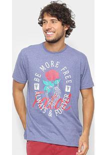 Camiseta Fatal Be More Free Masculina - Masculino-Azul Escuro