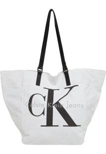 Bolsa Calvin Klein Jeans Logo Branca
