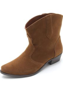 Bota Dafiti Shoes Assimétrica Caramelo