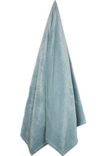Cobertor Velour De Solteiro- Verde ÁGua- 150X200Cm