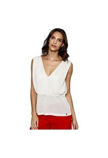 Blusa Malha Energia Fashion Branco