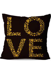 Capa De Almofada Decorativa Love 35X35Cm