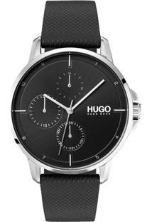 Relógio Hugo Boss Masculino Couro Preto - 1530022