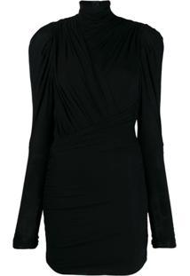 Isabel Marant Draped Party Dress - Preto