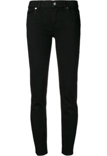 7 For All Mankind Slim-Fit Jeans - Preto