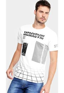 Camiseta Gangster Geométrica Tridimensional Masculina - Masculino