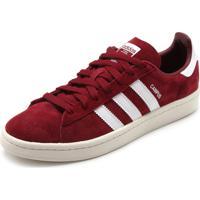 23930515295 Tênis Couro Adidas Originals Campus Vermelho