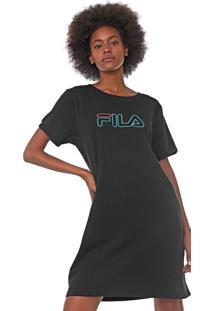 Vestido Fila Curto Neon Preto