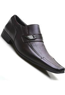 Sapato Social Couro Estampado Pierutti Masculino - Masculino-Marrom