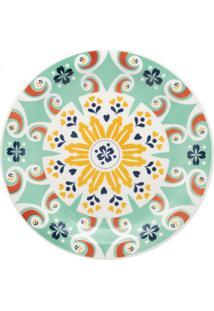 Conjunto De 6 Pratos Rasos 26Cm Floreal Solar - Multicolorido - Dafiti