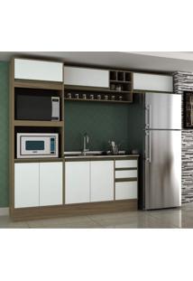 Cozinha Completa 4 Peças 7 Portas Com Nichos Safira Siena Móveis