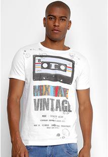 Camiseta Sideway Estampada Mix Tape Vintage Masculina - Masculino