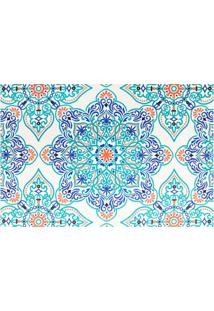 Jogo Americano Textilene 45 X 30Cm Arte Mandala Verde