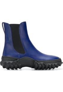 Marni Ankle Boot De Couro - Azul