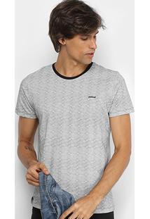 Camiseta Colcci Estampa Geométrica Masculina - Masculino