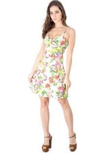 Vestido Evasê Floral Alphorria A.Cult - Feminino-Verde Claro