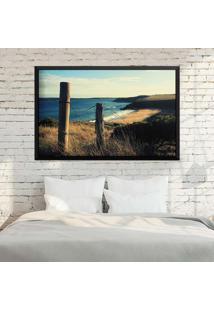 Quadro Love Decor Com Moldura Beach Paradise Preto Grande
