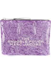 Marc Jacobs Clutch Snuggle Pouch - Roxo