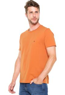 Camiseta Tommy Hilfiger Regular Fit Gola Redonda Laranja