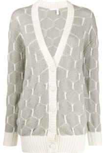 See By Chloé Patterned Knit Cardigan - Cinza
