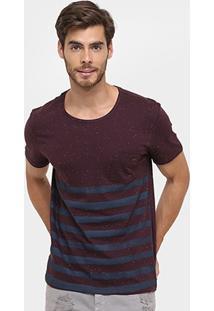 Camiseta Forum Bolso Botonê Listras - Masculino