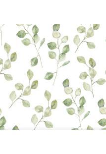Papel De Parede Stickdecor Adesivo Folhas Verdes 100Cm L X 300Cm A - Verde - Dafiti