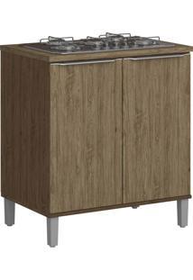 Armário De Cozinha 2 Portas Com Pé 4031P Cedro/Wood - Decibal Móveis