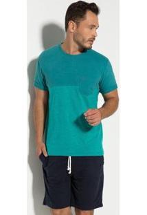 Camiseta Meia Malha Com Bolso Seeder Masculina - Masculino
