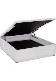 Cama Box Baú Ortobom Courino White Casal 138