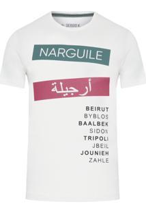 Camiseta Masculina Lebanon Wordas - Branco