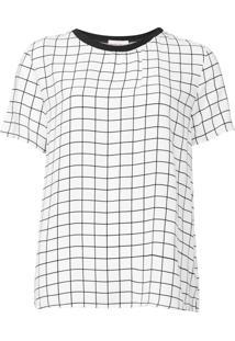 Blusa Lez A Lez Grid Branco/Preto