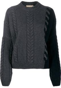 Maison Kitsuné Cable Knit Jumper - Cinza