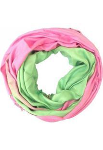 Lenço Zohar Degradê Rosa E Verde
