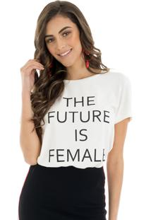 T-Shirt La Mandinne The Future Is Female Off White